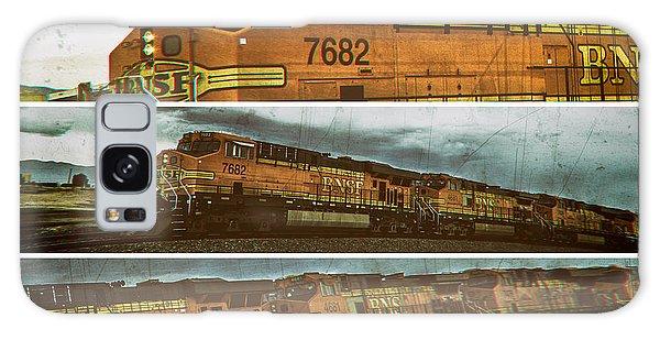 Bnsf 7682 Triptych  Galaxy Case by Bartz Johnson