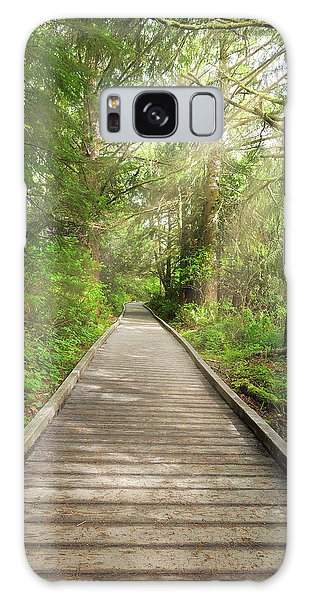 Galaxy Case - Boardwalk Along Hiking Trail At Fort Clatsop by David Gn