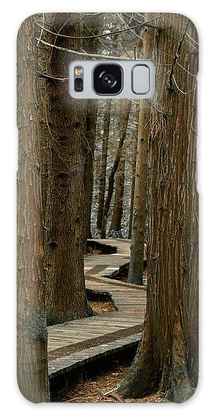 Boardwalk Among Trees Galaxy Case