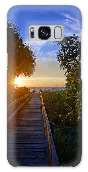 Sunset At The End Of The Boardwalk Galaxy Case