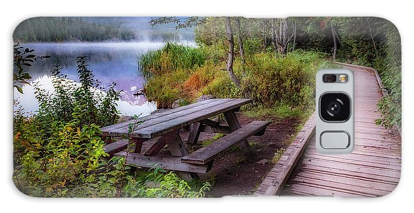 Picnic Table Galaxy Case - Boardwalk At Trillium Lake by Cat Connor