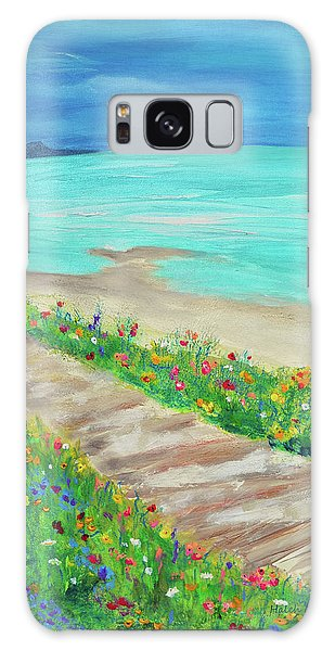 Boardwalk In Carmel Galaxy Case