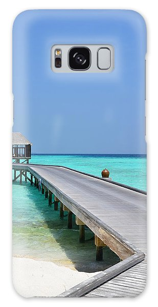 Boardwalk In Paradise Galaxy Case by Corinne Rhode
