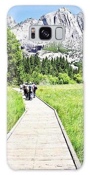 Boardwalk On Yosemite Meadow Galaxy Case