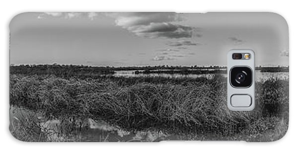 Boardwalk Panorama Monochrome Galaxy Case