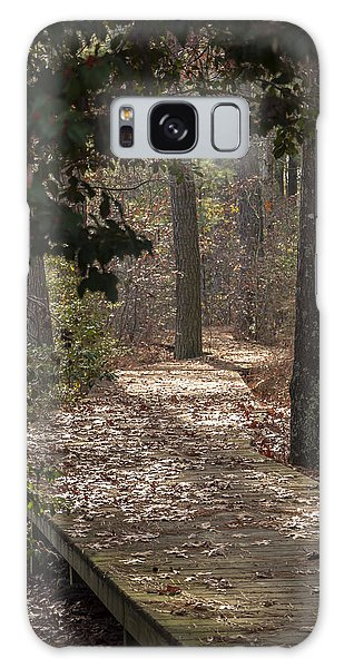 Boardwalk Through The Woods Galaxy Case
