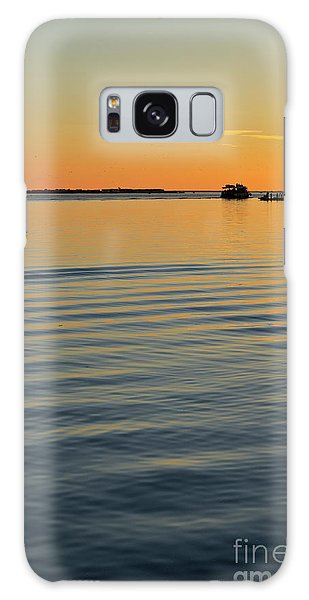 Boat And Dock At Dusk Galaxy Case