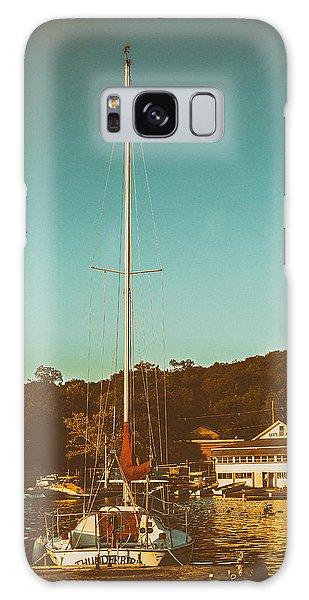 Boat At Lees Park Galaxy Case