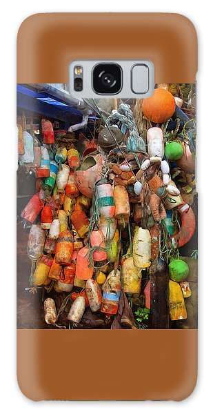 Galaxy Case featuring the photograph Crab Pot Buoys by Thom Zehrfeld