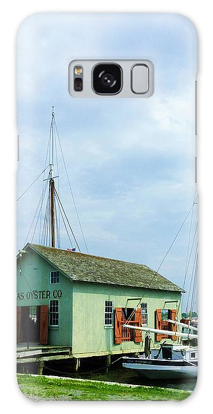Boat By Oyster Shack Galaxy Case by Susan Savad