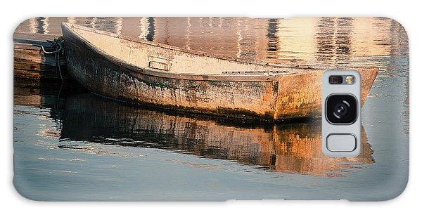 Boat In The Harbor Galaxy Case