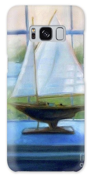 Boat In The Window Galaxy Case by Mary Hubley