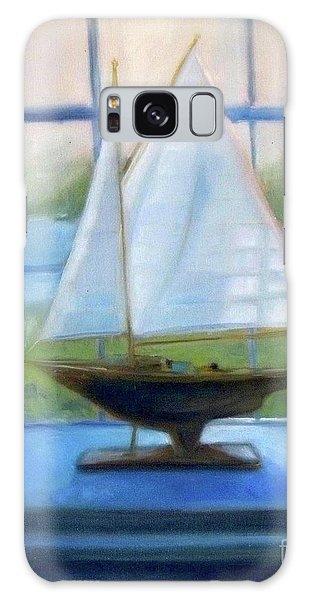 Boat In The Window Galaxy Case