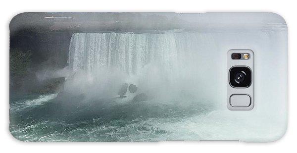 Boat Near Niagara Falls Galaxy Case
