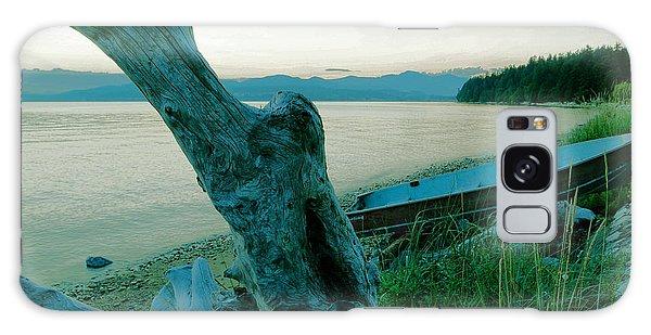 Swan Boats Galaxy Case - Boat On The Beach  by Jeff Swan