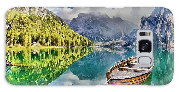 Boat On The Lake Galaxy Case