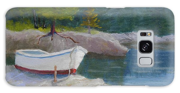 Boat On Tidal River Galaxy Case