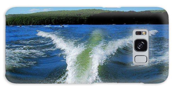 Boat Wake Galaxy Case by Patti Whitten