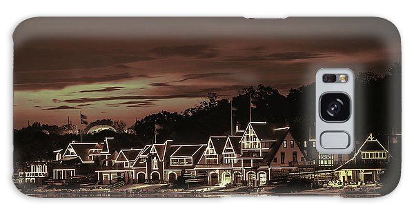Boathouse Row Philadelphia Pa Night Retro Galaxy Case