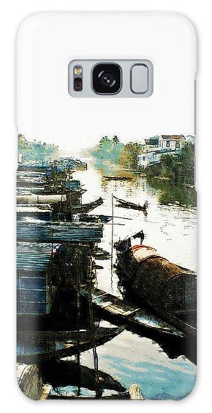 Boathouses In Vietnam Galaxy Case