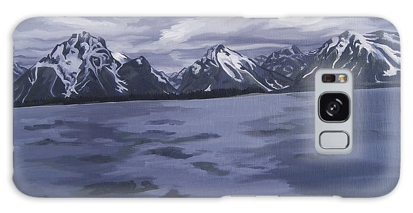 Galaxy Case featuring the painting Boating Jenny Lake, Grand Tetons by Erin Fickert-Rowland