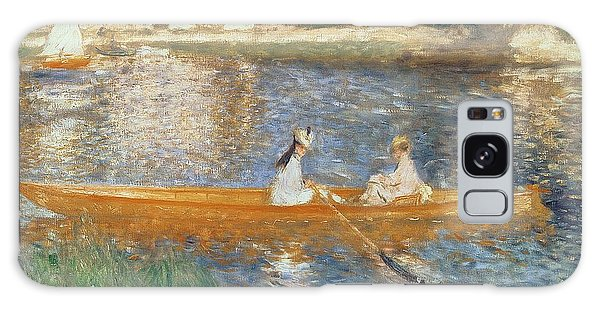 Boat Galaxy S8 Case - Boating On The Seine by Pierre Auguste Renoir