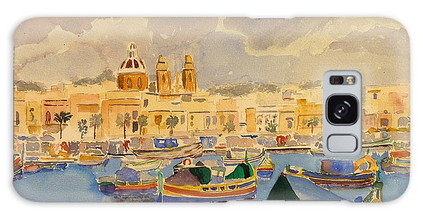 Boats At Marsaxlokk Galaxy Case