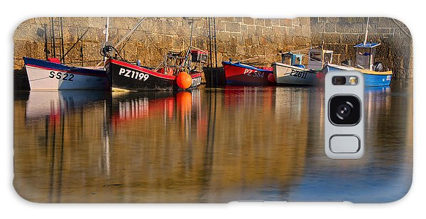 Boats At Mousehole Galaxy Case