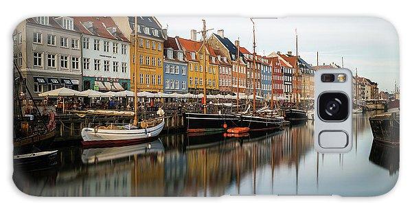 Boats At Nyhavn In Copenhagen Galaxy Case