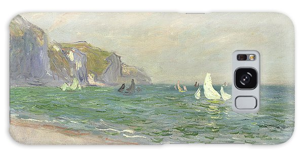 Boat Galaxy S8 Case - Boats Below The Cliffs At Pourville by Claude Monet