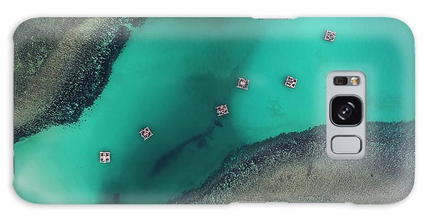 Galaxy Case featuring the photograph Boats Floating In Sea by Pradeep Raja PRINTS