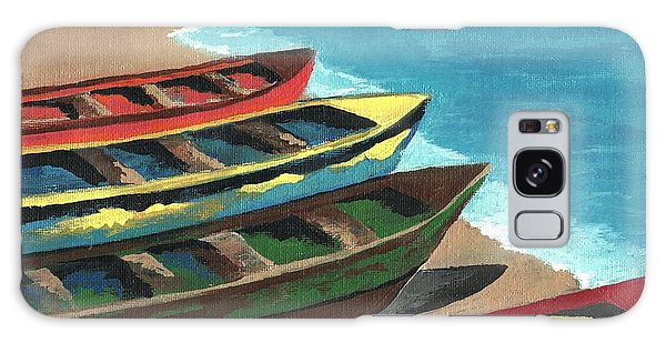 Boats In A Row Galaxy Case by Kathleen Sartoris