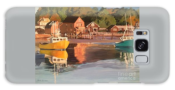 Boats In Kennebunkport Harbor Galaxy Case