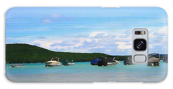 Boats In Sleeping Bear Bay Wood Texture Galaxy Case by Dan Sproul