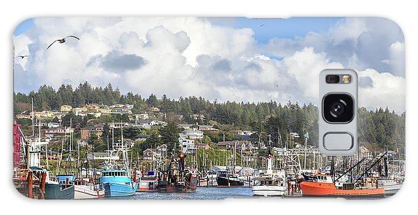 Galaxy Case featuring the photograph Boats In Yaquina Bay by James Eddy