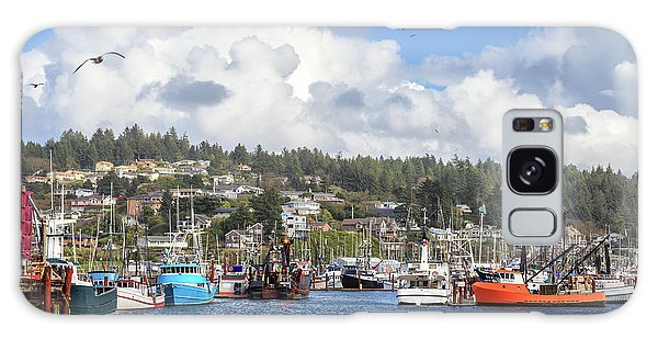 Boats In Yaquina Bay Galaxy Case by James Eddy