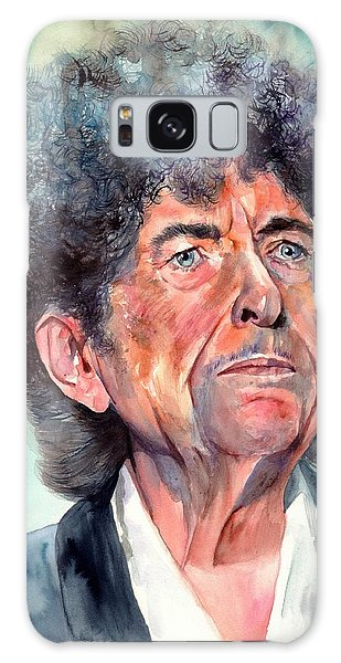 Johnny Cash Galaxy S8 Case - Bob Dylan Watercolor Portrait  by Suzann's Art