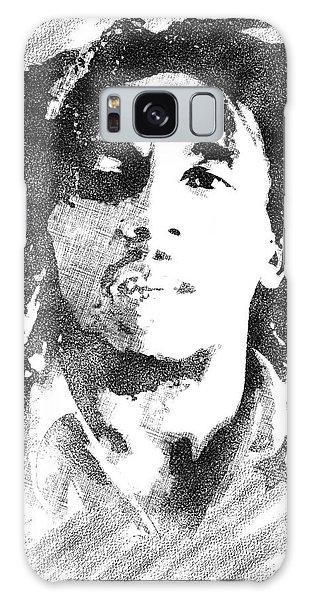 Bob Marley Bw Portrait Galaxy Case