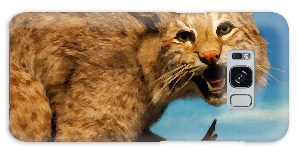 Bobcat On A Branch Galaxy Case by Chris Flees