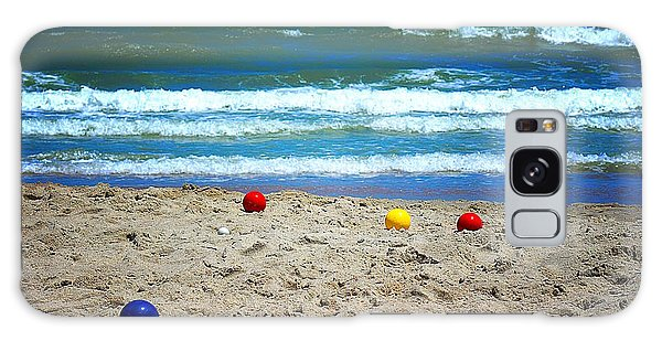 Bocce On The Beach Galaxy Case