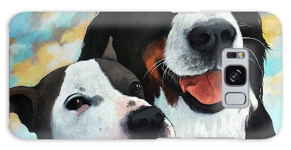Bodhi And Lily  Pet Portrait Galaxy Case