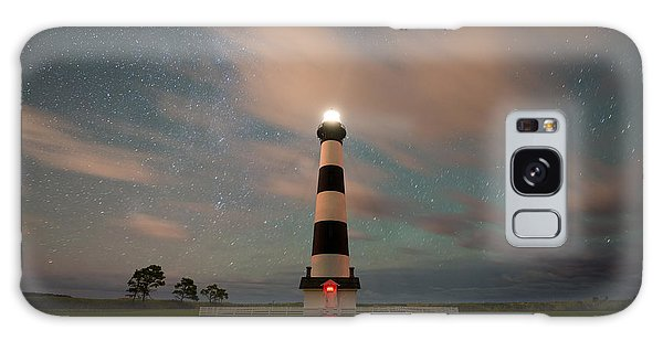 Bodie Galaxy Case - Bodie Island Lighthouse Dreamy Night by Michael Ver Sprill