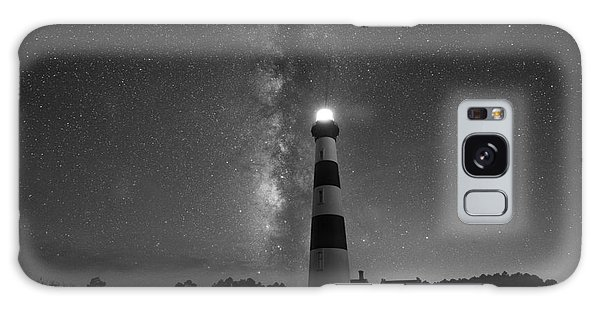 Bodie Galaxy Case - Bodie Island Lighthouse Milky Way Bw by Michael Ver Sprill