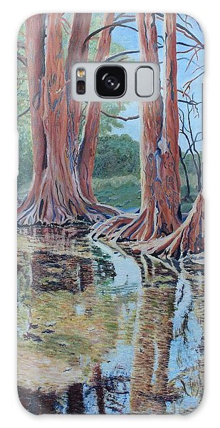 Boerne River Scene Galaxy Case