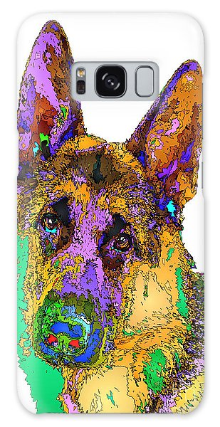 Bogart The Shepherd. Pet Series Galaxy Case