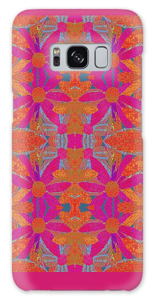 Galaxy Case featuring the painting Boho Hippie Garden - Pink by Lisa Weedn