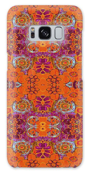 Boho Hippie Garden - Tangerine Galaxy Case by Lisa Weedn