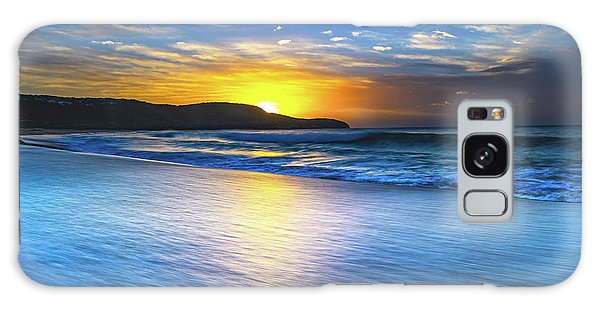 Bold And Blue Sunrise Seascape Galaxy Case