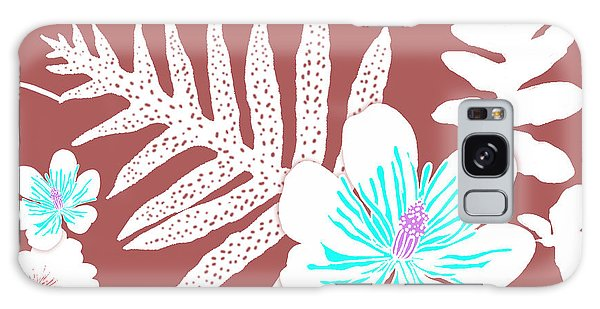 Bold Fern Floral - Dusty Cedar Galaxy Case