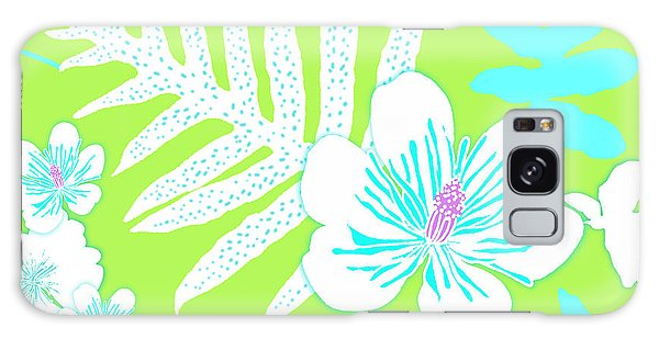 Bold Fern Floral - Lime Galaxy Case